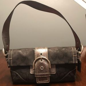 Coach black and silver bag
